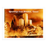Greetings from Houston,Texas! Postcard