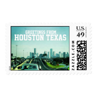 Greetings from Houston Texas (Stamp) Postage