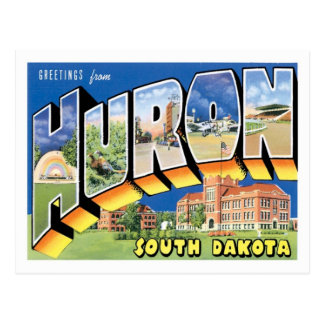Greetings From Huron South Dakota US City Postcard