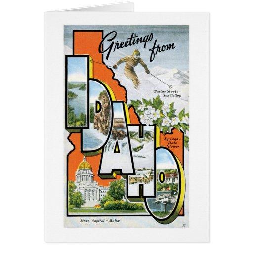 Greetings From Idaho Greeting Card