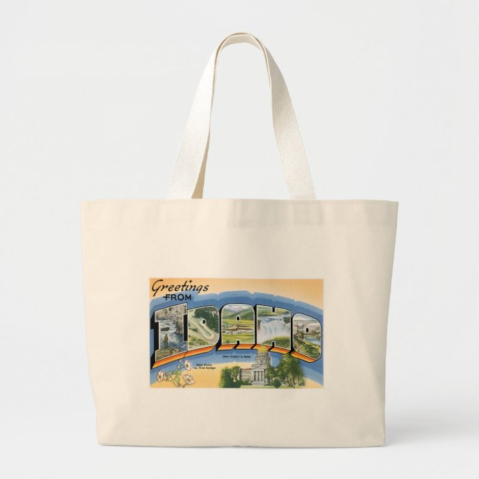 Greetings from Idaho! Large Tote Bag