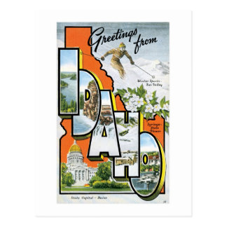 Greetings from Idaho! Postcard