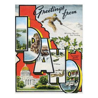 Greetings From Idaho Post Card