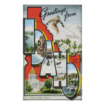 Greetings From Idaho, Vintage Posters