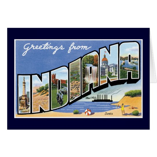 Greetings from Indiana! Card