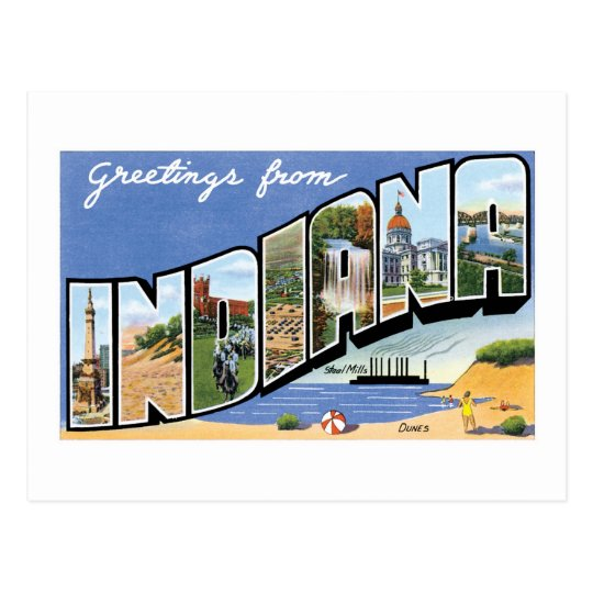 Greetings from Indiana! Postcard