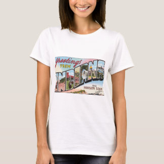 Greetings From Indiana The Hoosier State, Vintage T-Shirt