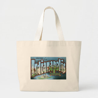 Greetings from Indianapolis, Indiana! Large Tote Bag