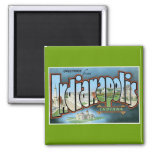 Greetings from Indianapolis, Indiana! 2 Inch Square Magnet