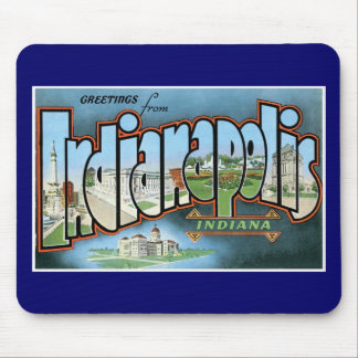 Greetings from Indianapolis, Indiana! Mouse Pad