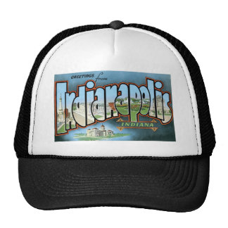 Greetings from Indianapolis, Indiana! Trucker Hat