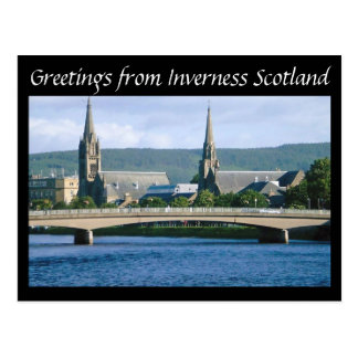 Greetings from Inverness Scotland Postcard