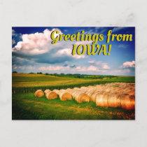 """Greetings from Iowa"" Beautiful Postcard"