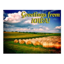 """Greetings from Iowa"" Beautiful Postcard"