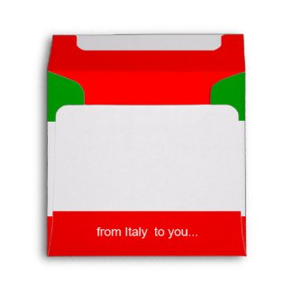 greetings from Italy envelope