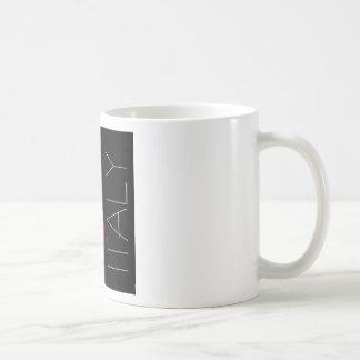 Greetings from Italy Red Lipstick Love Kiss Coffee Mug