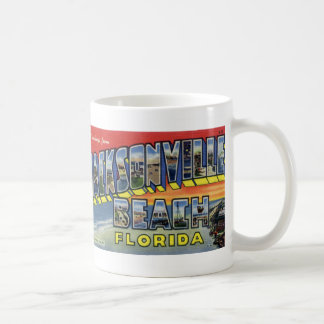 Greetings from Jacksonville Beach Postcard Mug