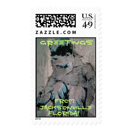 Greetings from Jacksonville Florida postage stamps