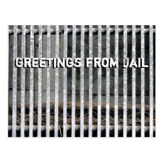 Greetings from Jail Humorous Postcard
