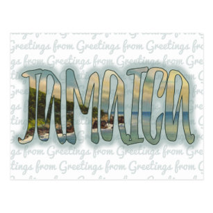 Greetings jamaica gifts on zazzle greetings from jamaica postcard m4hsunfo