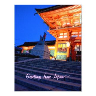 Greetings from Japan Postcard : SHINTO FOX SHRINE