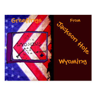 Greetings From JH Wyoming Postcard