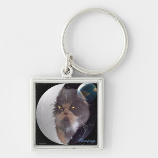 Greetings from Jolie Mama Silver-Colored Square Keychain