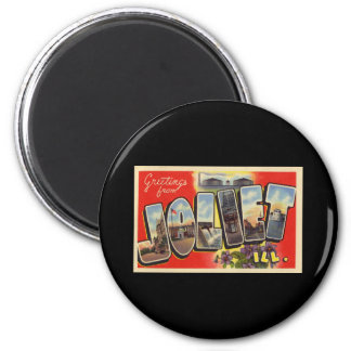 Greetings from Joliet Illinois 2 Inch Round Magnet