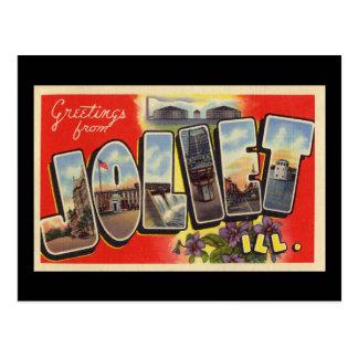 Greetings from Joliet Illinois Postcard