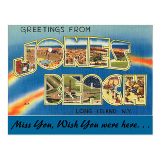 Greetings from Jones Beach Postcard