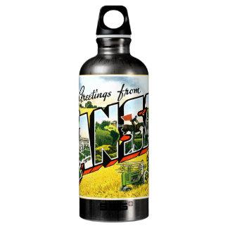 Greetings from Kansas Aluminum Water Bottle