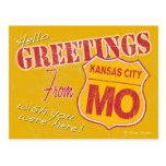 Greetings from Kansas City Missouri Postcard