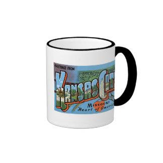 Greetings from Kansas City! Ringer Coffee Mug