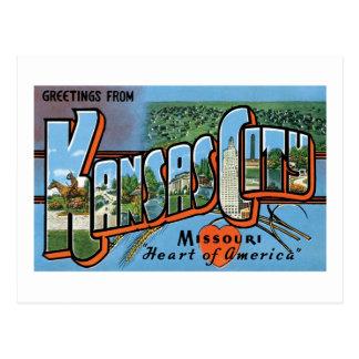 Greetings From Kansas City Postcard