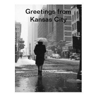Greetings From Kansas City Vintage Kansas City Postcard