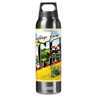 Greetings from Kansas Insulated Water Bottle