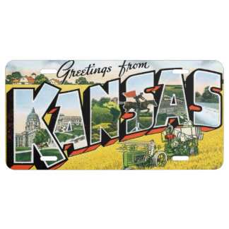 Greetings from Kansas License Plate