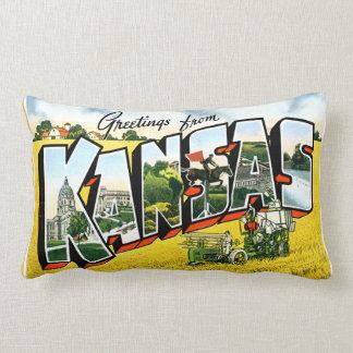 Greetings from Kansas Pillow