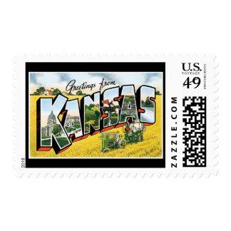 Greetings from Kansas Postage Stamp