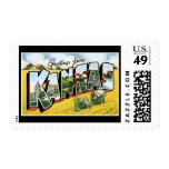 Greetings from Kansas Postage Stamps