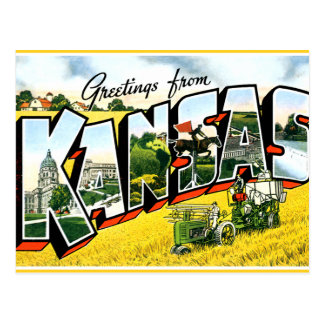 Greetings from Kansas Postcard
