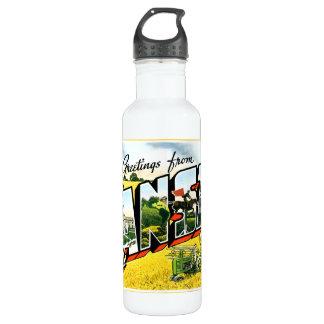 Greetings from Kansas Water Bottle