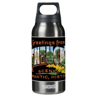 Greetings from Kentucky Historic Romantic Vintage Insulated Water Bottle