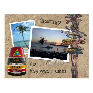 Greetings from Key West, Florida Postcard