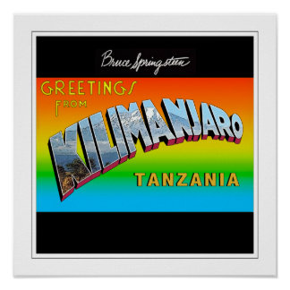 Greetings from Kilimanjaro Framed Poster
