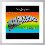 Greetings from Kilimanjaro Framed Print