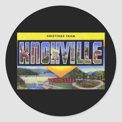 Greetings from Knoxville Tennessee Sticker