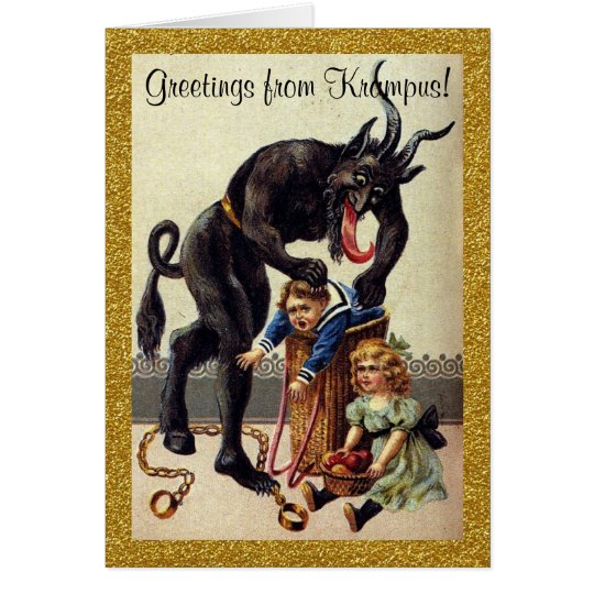 Greetings from krampus holiday greeting card zazzle greetings from krampus holiday greeting card m4hsunfo