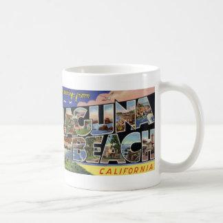 Greetings from Laguna Beach Vintage Postcard Mug