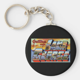 Greetings from Lake George New York Basic Round Button Keychain